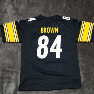 Pittsburgh Steelers Nike NFL Kid/'s Jersey 10-12 Years Black Brown 84 New